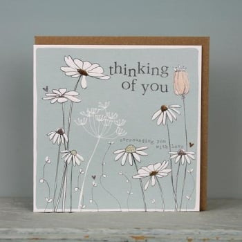 Thinking of you floral - Card