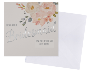 Bridesmaid - Thank You - Card