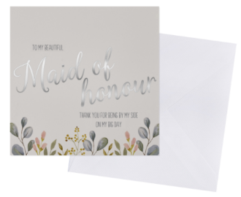Maid of honour - Thank You - Card