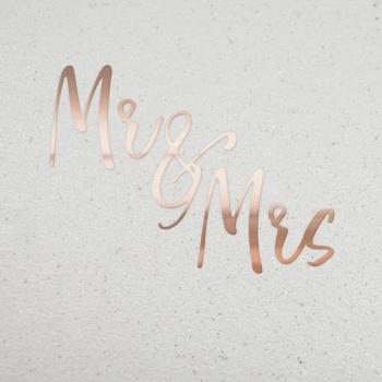 Mr & Mrs Rose Gold - Card