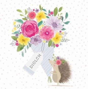 Diolch Hedgehog- Card