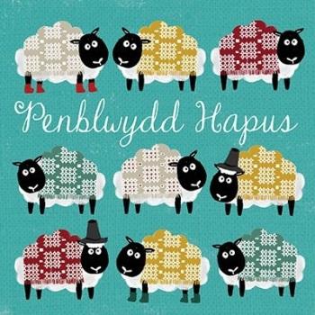 Penblwydd Hapus Sheep - Card