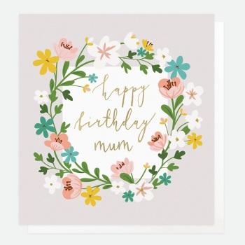 Happy Birthday Mum Floral- Card