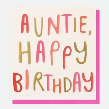 Auntie Birthday- Card