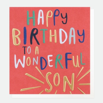 Wonderful Son Birthday- Card