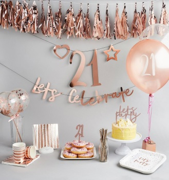 Rose Gold Personalised - Bunting