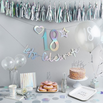 Iridescent Personalised - Bunting