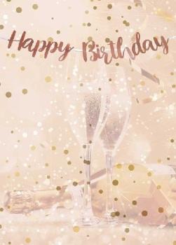 Rose Gold Happy Birthday - Bunting