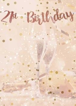 Rose Gold 21st Birthday - Bunting