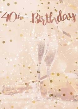 Rose Gold 40th Birthday - Bunting