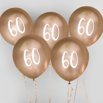 60 Latex Balloons - 5 - Various Colours