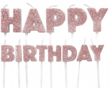 Happy Birthday Candles - Rose Gold