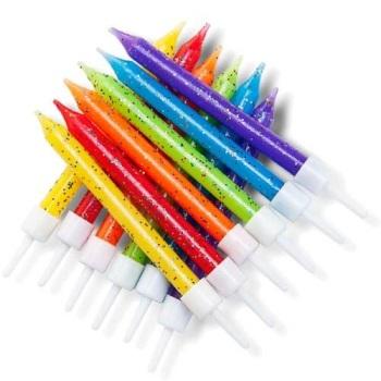 Rainbow Glittery - Candles