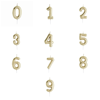 Gold Number - Candle