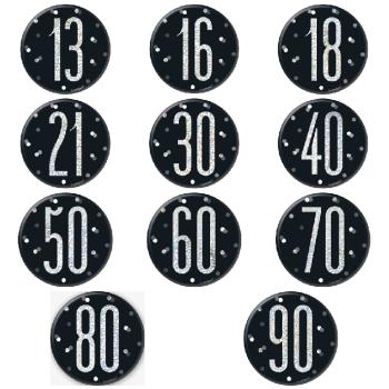 Black & Silver Age Badge - Various Choice