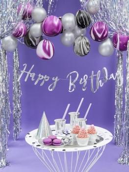 Silver Script Happy Birthday - Bunting