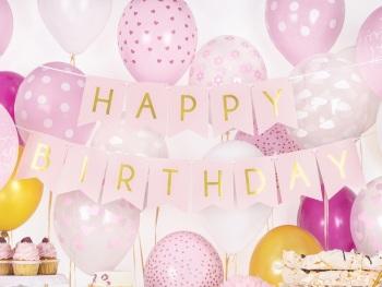 Pink Flag Happy Birthday - Bunting