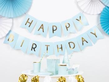 Blue Flag Happy Birthday - Bunting