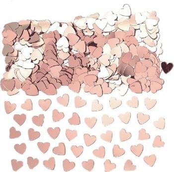 Rose Gold Heart - Confetti