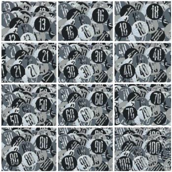Black & Silver - Confetti - Various Choice