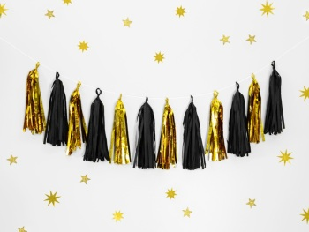 Black & Gold - Tassel Garland