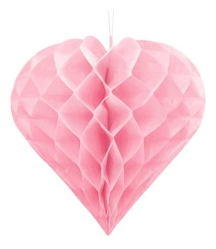 Honeycomb Heart - Pink - 30cm