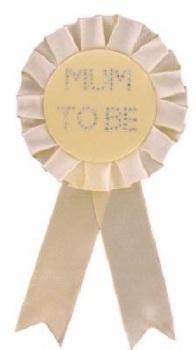 Mum to be Badge - Neutral Yellow