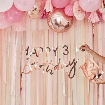 Rose Gold Personalised Age - Bunting
