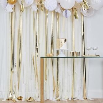 Gold & White Streamer - backdrop