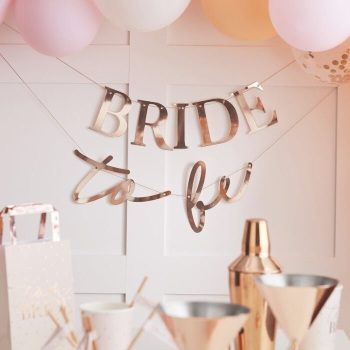 Rose Gold - Bride to be - Bunting