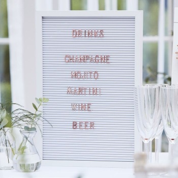 White and Copper - Large Peg Board