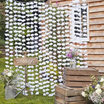 Floral Backdrop - White