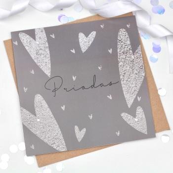 Hearts - Priodas - Card