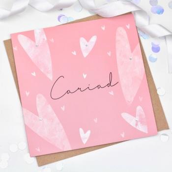 Hearts - Cariad - Card