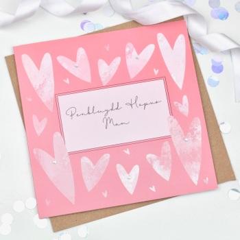 Heart - Penblwydd Hapus Mam - Card