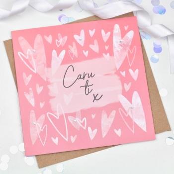 Hearts - Caru ti - Card