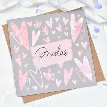 Heart - Priodas - Card