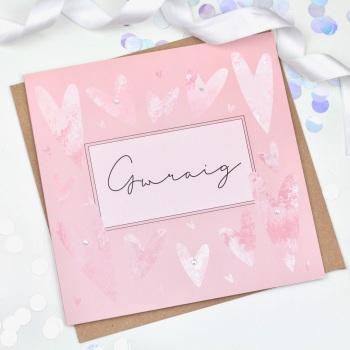 Heart - Gwraig - Card