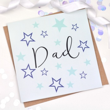 Blue Starry - Dad  - Card
