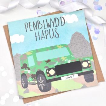 Camo Defender - Penblwydd Hapus  - Card