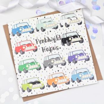 Mini - Penblwydd Hapus  - Card