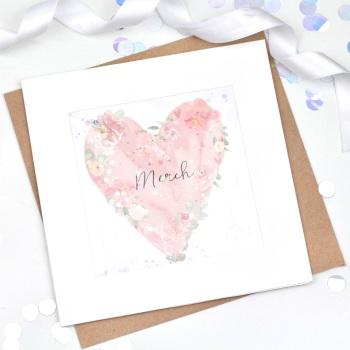 Floral Heart  - Merch - Confetti Card