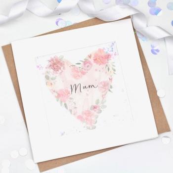 Floral Heart  - Mum - Confetti Card
