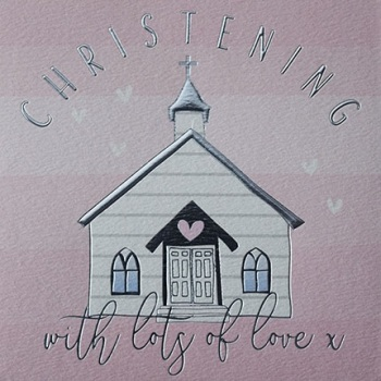 Pink Christening - Card