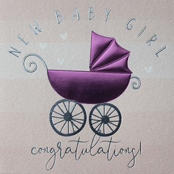 New Baby Girl - Card
