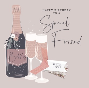 Special Friend Happy Birthday - Card
