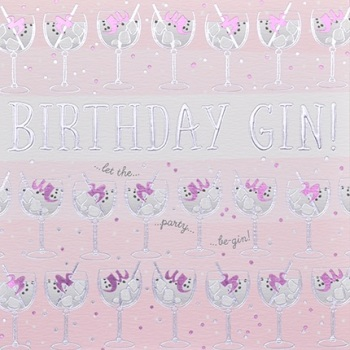 Birthday Gin - Card