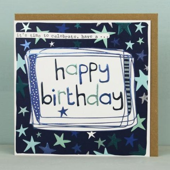 Starry Happy Birthday - Card