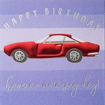 Birthday Car - Card