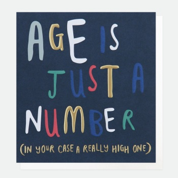 Age is just a number - Card